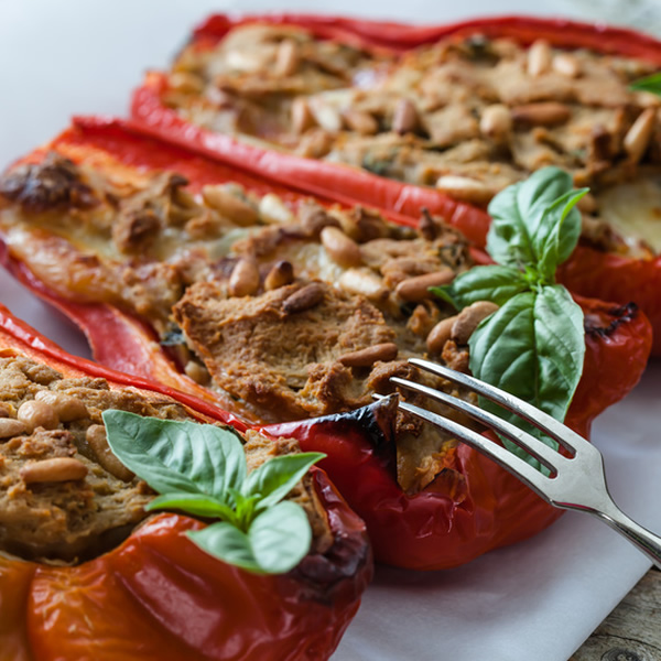Bell peppers stuffed with tuna fish