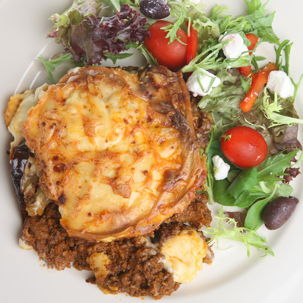 Eggplant and cheese casserole