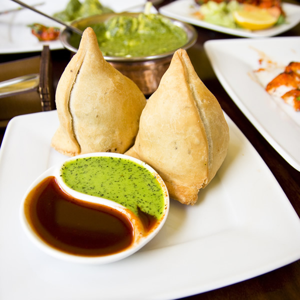 Fried potato samosa with spices