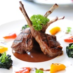 Lamb chops with balsamic vinegar