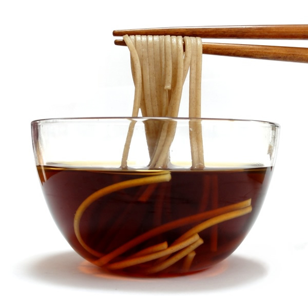 Japanese soy sauce with noodles