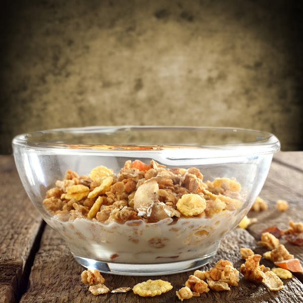 Muesli and dried fruits with yogurt