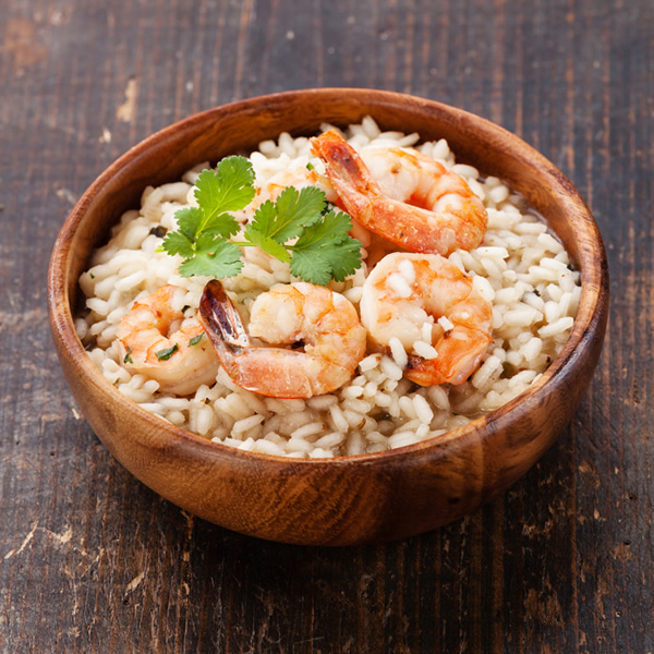 Risotto with lime and shrimps