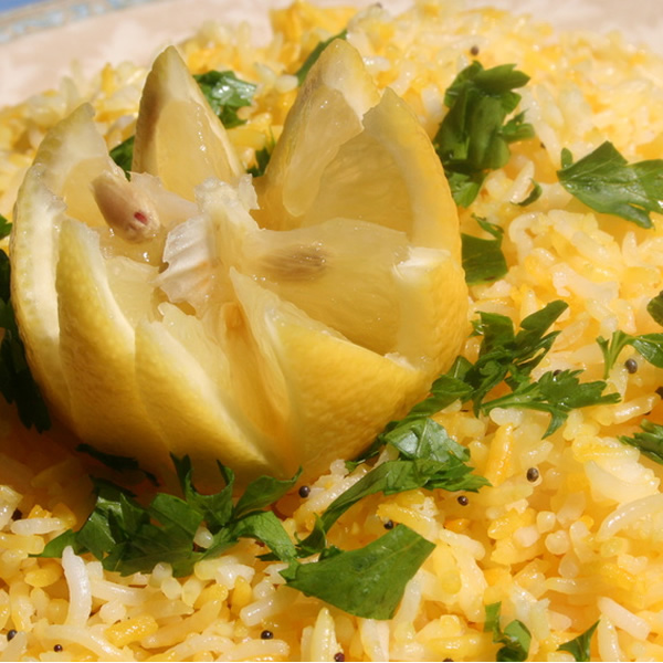 Rice with lemon and parsley