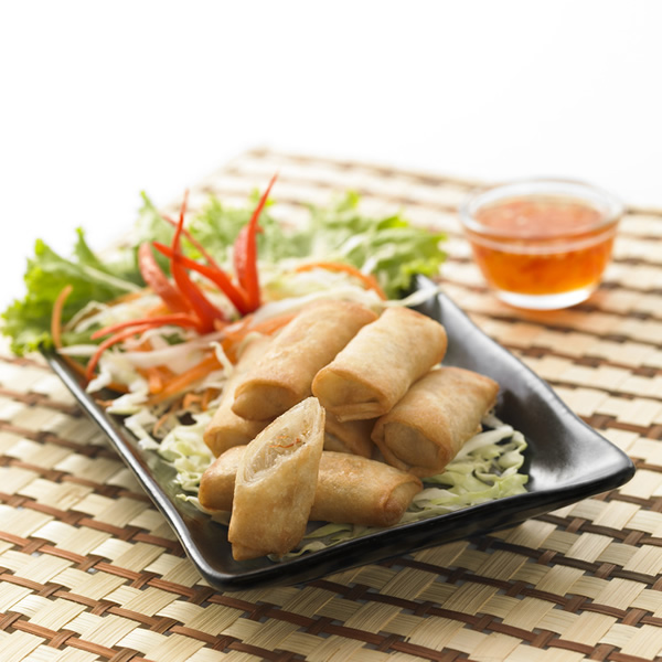 Thai spring rolls with vegetables