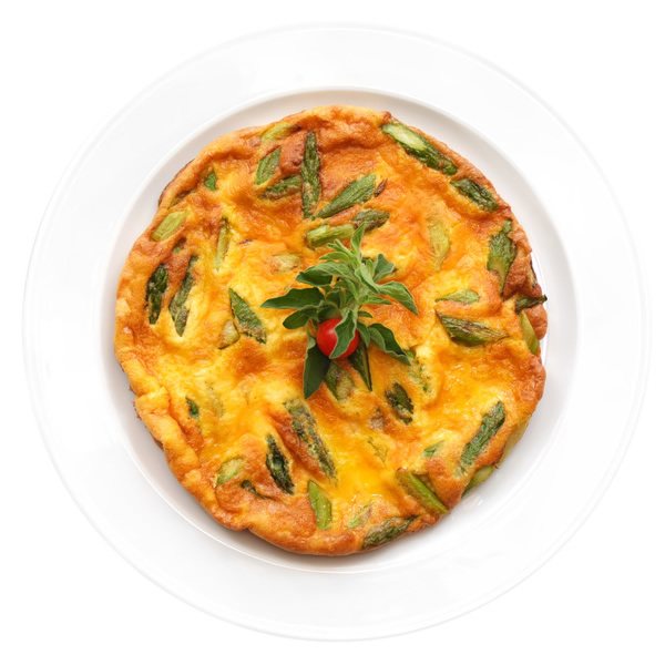 Asparagus egg frittata