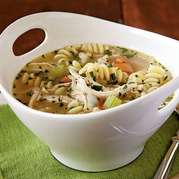 Chicken pasta soup