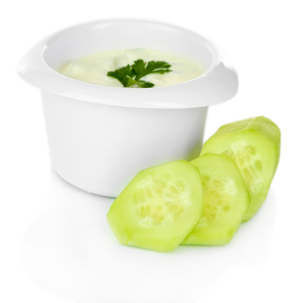 Yogurt with fresh cucumber