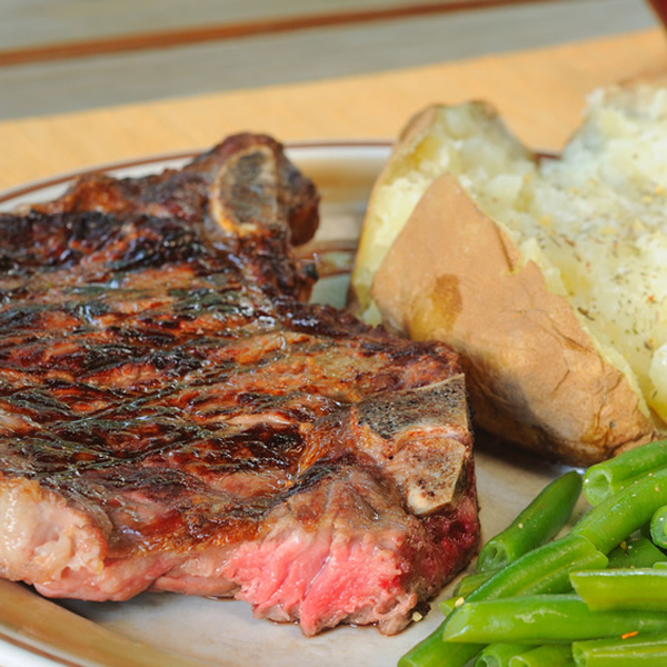 Beef with aromatic butter