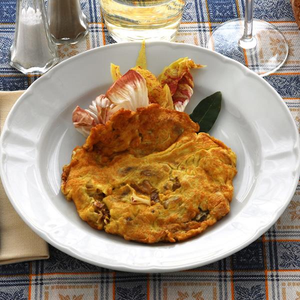 Radicchio egg omelette