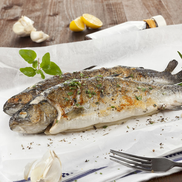 Baked trout with herbs