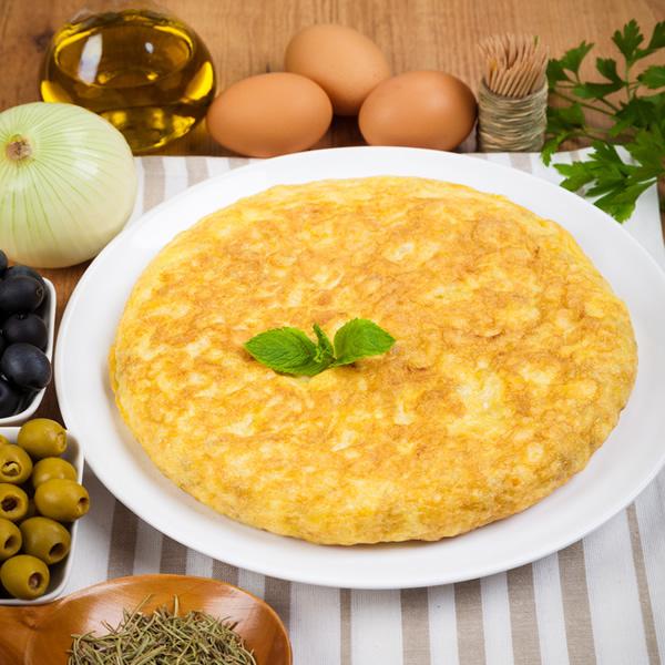 Onion egg omelette
