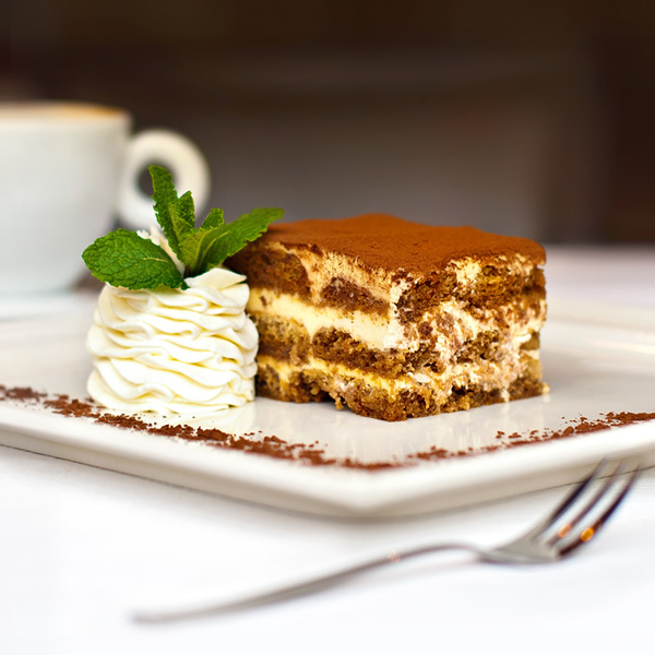 Tiramisu Italian dessert with chocolate and coffee